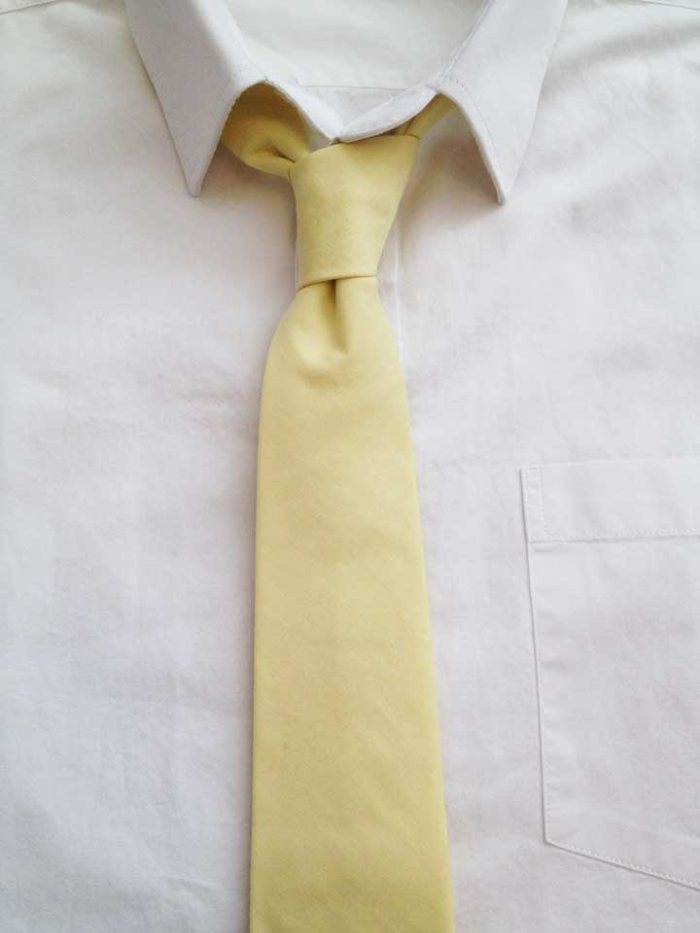 the grunion run   groomsmen shop - pale yellow tie
