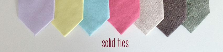 solid color neckties